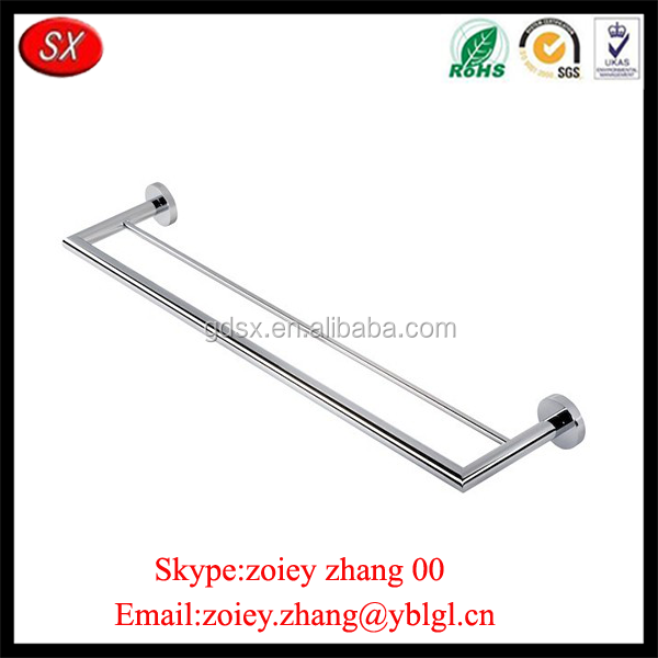 Bathroom Stainless Steel Double Towel Bar With High Precision