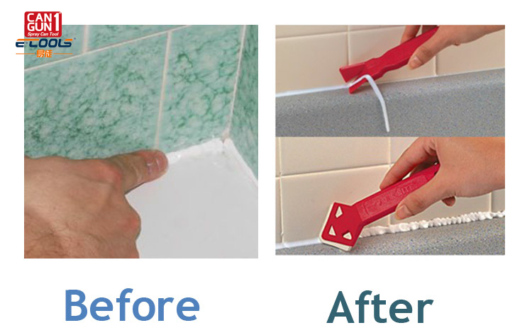 Caulking tool combo pack custom caulking remover and smoother