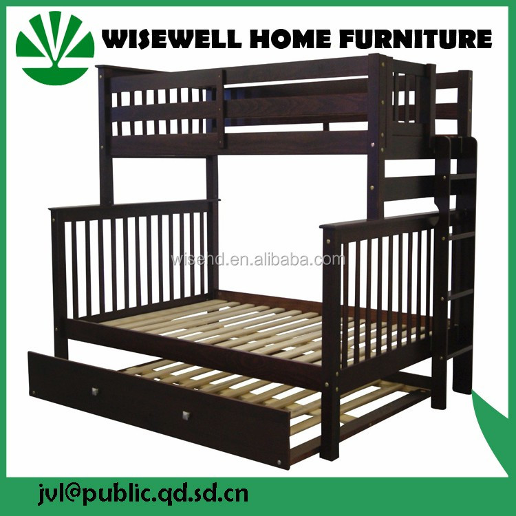 ( WJZ-B63 ) pine wood kids double bunk bed in beds