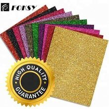 FOKSY High Quality Glitter Heat Transfer Vinyl Sheet For Clothing