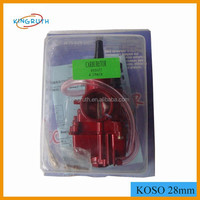 KOSO 24mm, 26mm, 28mm, 30mm, 32mm and 34mm Carburetor With Power Jet motorcycle carburetor
