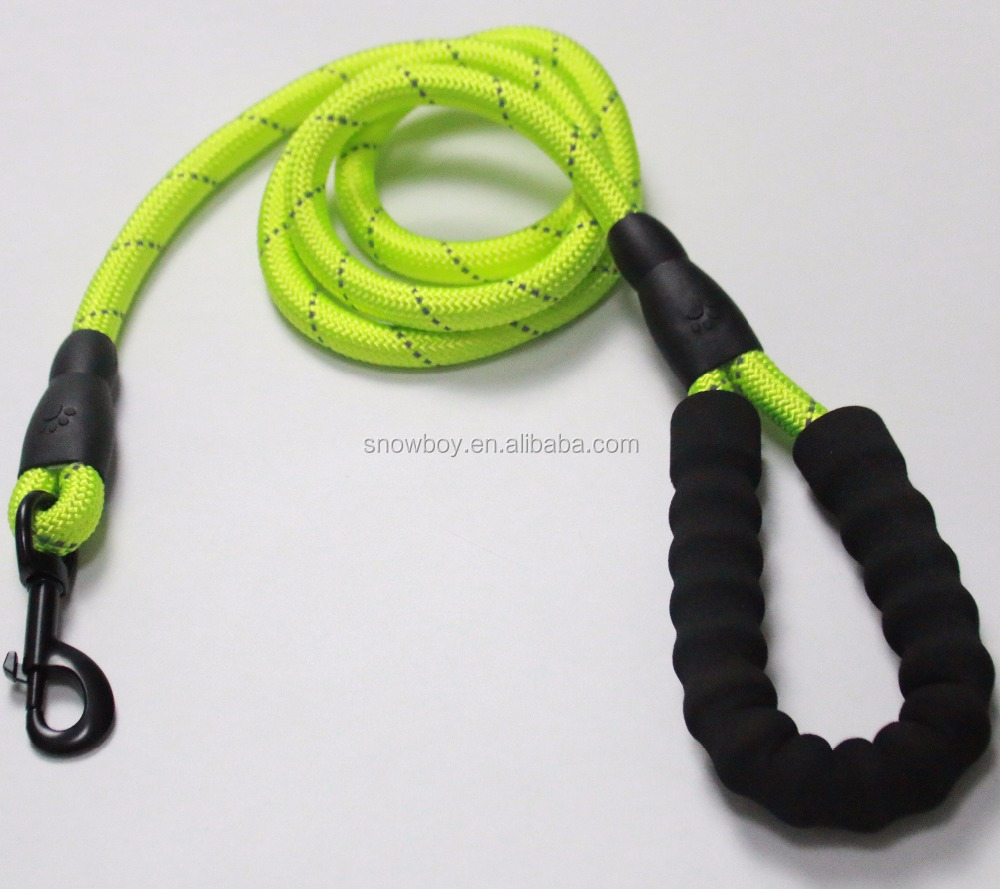 3M Reflective Pet Training Rope Traction Retractable Dual Bungee Dog Leash with Plastic Padded Handle