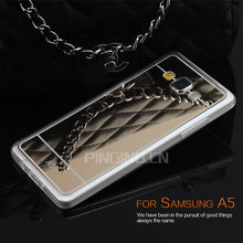 Luxury Shockproof Electroplating TPU Mirror Case For Samsung Galaxy A5 Back Cover