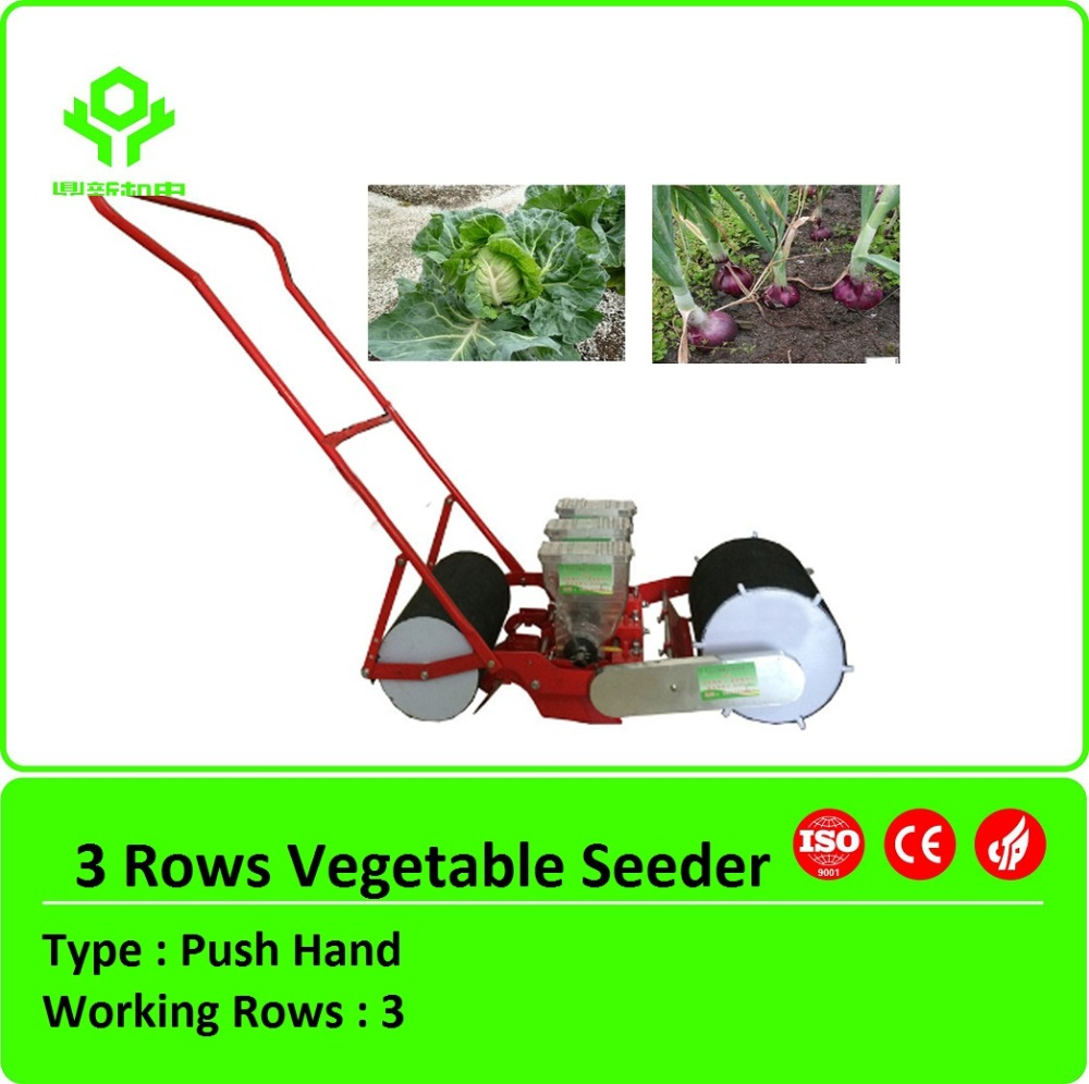 Precision vegetable planter /onion carrot hand push seeder