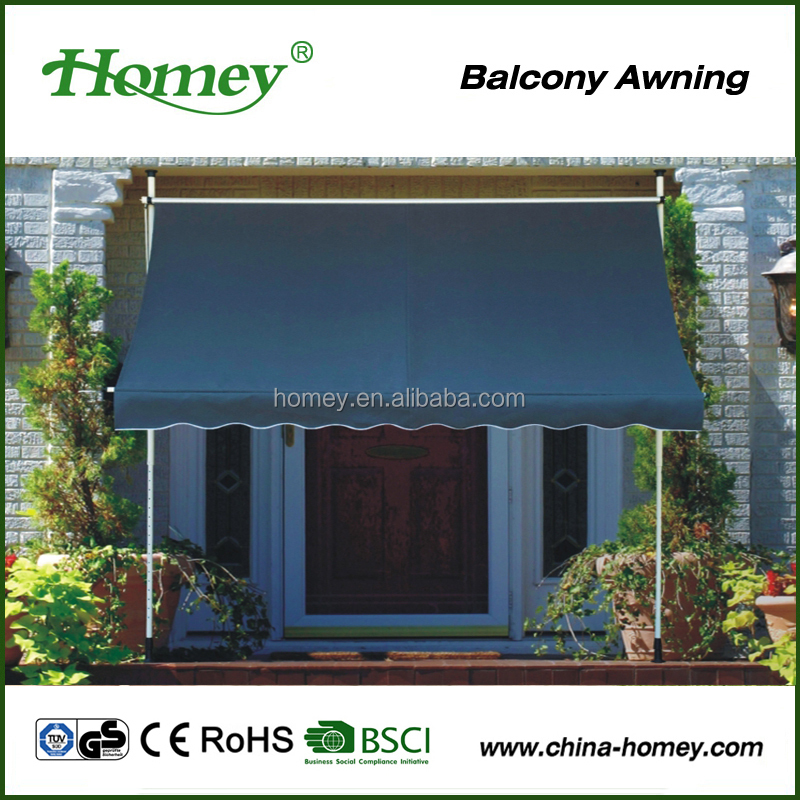 freestanding retractable waterproof rain awning for balcony