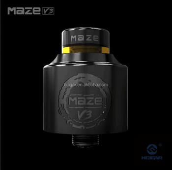 2017 New vape tank HCigar Maze v3 RDA with Inlet airflow tube