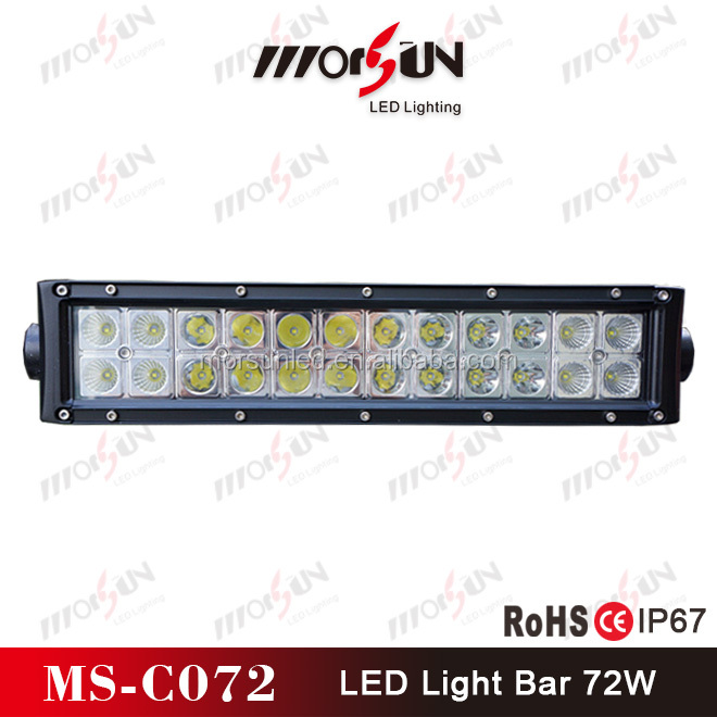 Mini 13inch 72W roof driving light bar 12V for 4x4 off road, ATV, Jeep, SUV