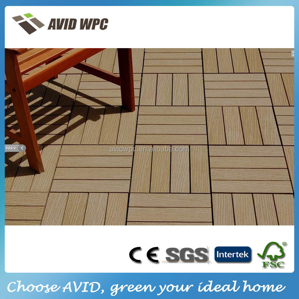 Easy assembly and cheap price outdoor wood plastic wpc decking tiles for sale