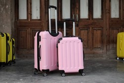 20inch 24inch 2-Piece Girls Luggage Hard Suitcase Decent Luggage Pink Green