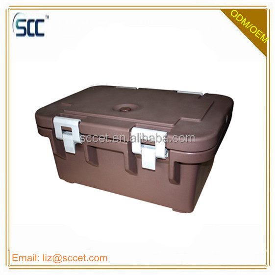 Insulated plastic Top Loader, top loading food carrier, hold up GN pans