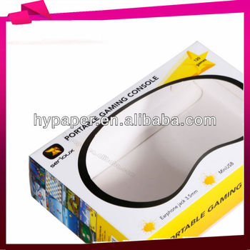 art paper packaging box with clear window