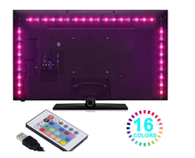 USB LED Strip <strong>RGB</strong> 5050 1Meter IP65 TV Background Lighting <strong>RGB</strong> LED strip mini controller / 20key <strong>RGB</strong> remote controller