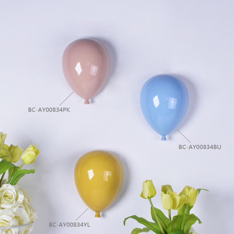 Modern wall hangings ceramic colorful ballons decorative home accessories