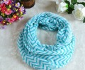 Fashion Personalized Viscose Infinity Scarf In Chevron Wholesale