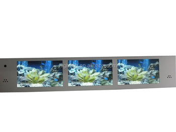 Multiple tft screens video supermarket shelf lcd display
