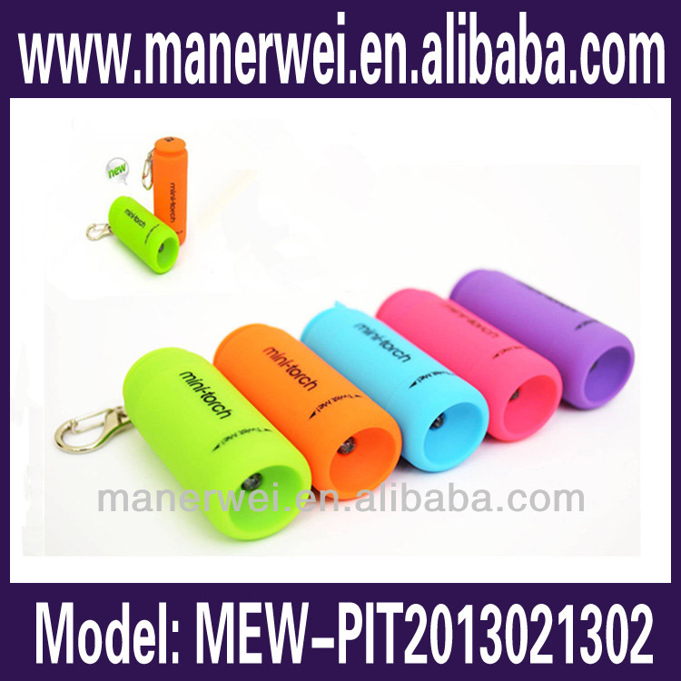 Keychain design novel looking special Lovely kids cheap plastic led torch light usb flashlight