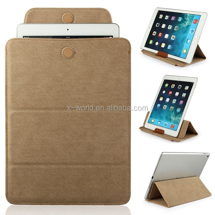 Super Slim Multifunction PU Leather Tablet Pouch Case with Fold Stand