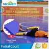 Easy to install and clean interlocking football soccer indoor pp material futsal court flooring