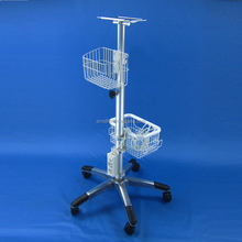 hospital stand monitor swivel stand hospital patient trolley