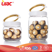 customize size Heat resistant fresh keeping silicone seal nuts borosilicate glass storage jar