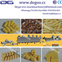 Corn grits puffed snack food production line from Jinan DG machinery