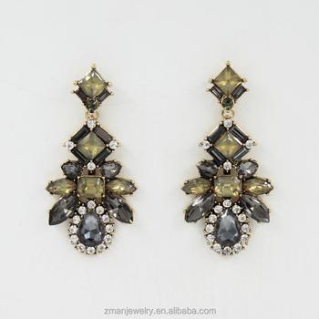 Vintage Vogue Crystal Earrings For Women Fashion Diamond Designs