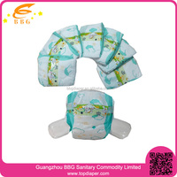 OEM brand and cute design ultra thin disposable baby diapers in wholesale