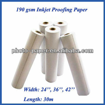 Top quality ! 190g Semi-glossy RC Inkjet Proofing Paper for Prepress