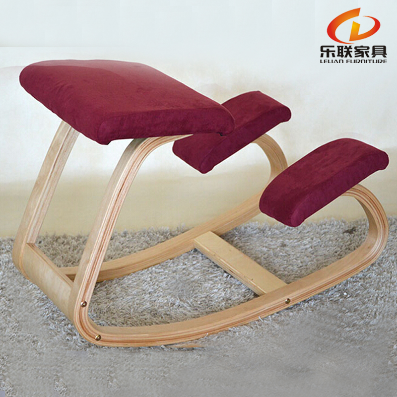Popular ergonomic wooden knee health office kneeling <strong>chair</strong>