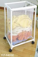cheap simple metal rack laundry basket / stool