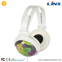 Custom logo bright colored headphones for girl big