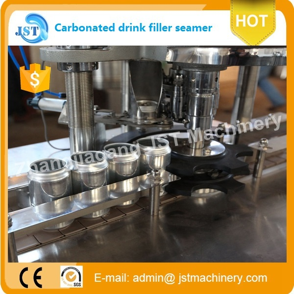 canning carbonated soft drinks fillerseamer machine