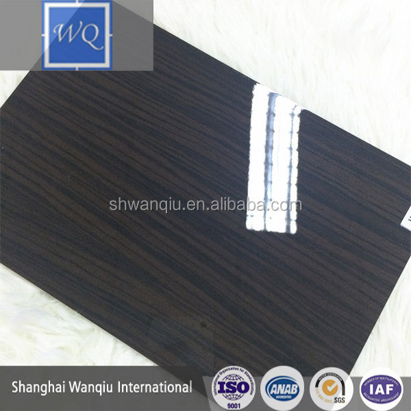 high gloss paint for mdf Wood Grain UV Coated