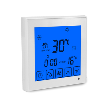 CE Touch Screen Digital Fan Speed Switch Room Central Air Conditioner Thermostats