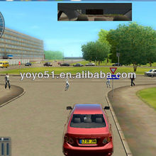Environment and healthy, electronic car simulator for learning to drive in a new way