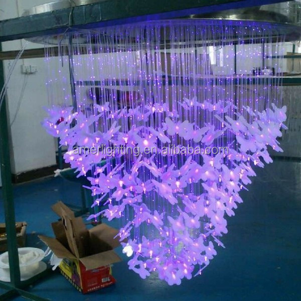 2015 butterfly novelty fiber optic wall lighting in 7colors