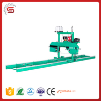 Band Sawmill's panel saw MJ620 Portable Horizontal Band Sawmill's (Diesel Engine)