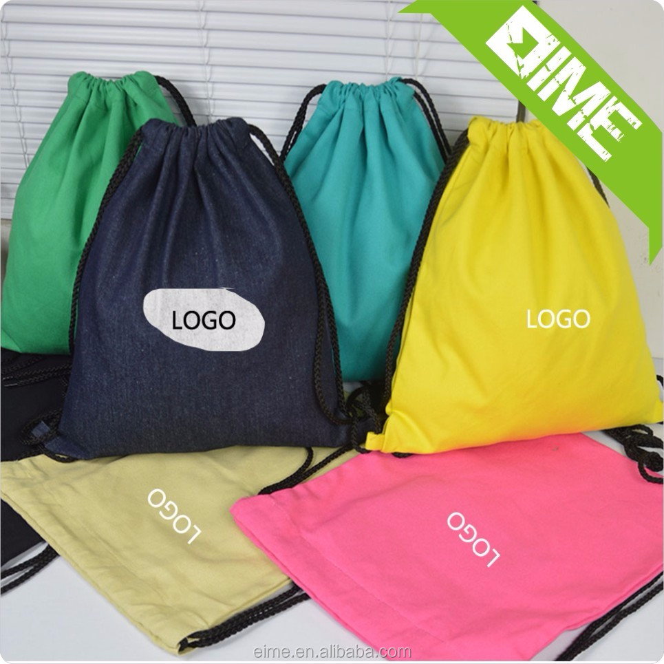 Wholesale Cotton Muslin Fabric Drawstring Bag With Free Smaple
