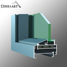 Constmart stylish sliding aluminium/PVC door/window with double glazing machine security mesh window guard