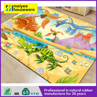 Dinosaur World Custom Fully Printing Eco-friendly Natural Rubber Play Mat for Kids