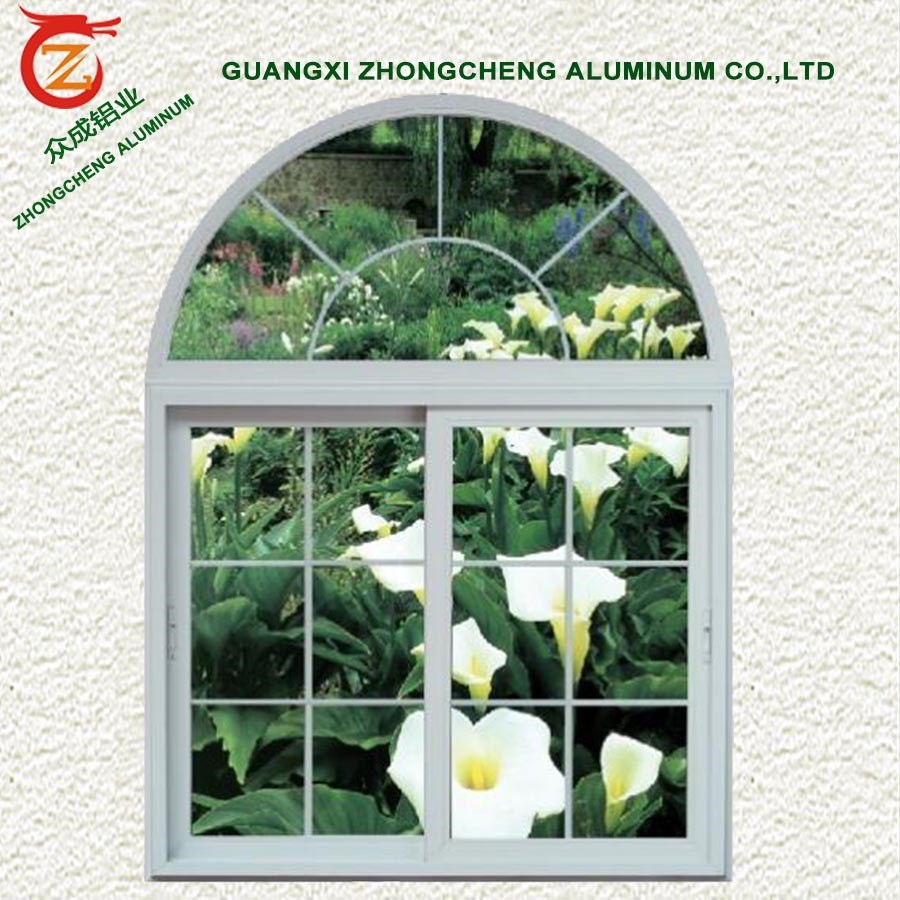 Special Arch Window Grill Design With Fixed Aluminum Frame
