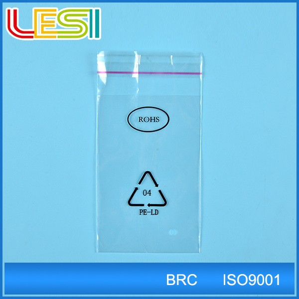 custom clear opp plastic self adhesive cellophane bags