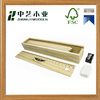Wholesales unfinished handmade sliding lid solid pine wooden pen gift box case with ruler