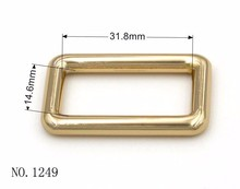 32mm Metal Rectangle Connecting Ring for Backpack Hardwares