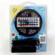 5m waterproof <strong>RGB</strong> led strip with one 44 key remote controller and one 12V5A power supply led strip kit