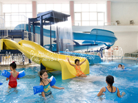 Indoor kids water play equipment for pool slide