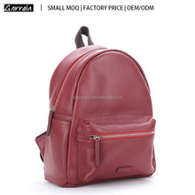 Small MOQ Shanghai Factory stylish women's genuine leather backpack