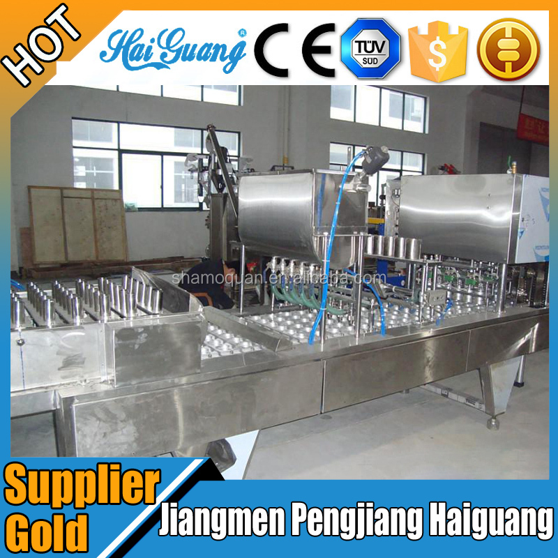 China Alibaba Jam Cup Filler Packing Machine/Rotary Type Cup Filling And Sealing Machine