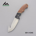 Outdoor camping knife with wood handle