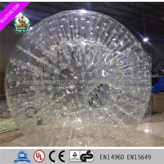 2016 best sale large transparent inflatable bouncy ball with people inside zorb gross ball for kids and adults